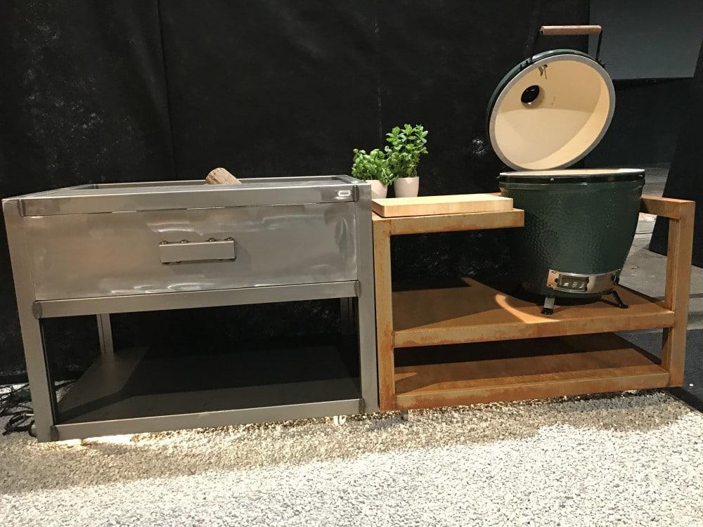Buitenkeuken Zeno Kitchen BGE. Mooie module van cortenstaal